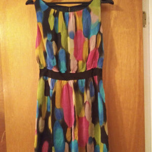 Multicolored Sleeveless Dress Sz S